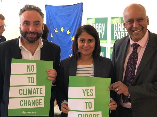 Green lead EU Candidates Scott Ainslie, Gulnar Hasnain and Shahrar Ali
